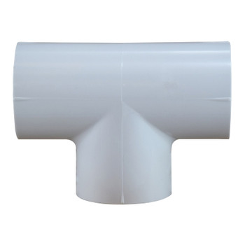 1 in. x 1-1/2 in. PVC Slip Tee, PVC Schedule 40 Pipe Fitting, NSF 61 Certified