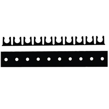 1/4 in. Tube OD Mounting Rack, Adhesive, 10 Channels, Color Black, Tube Supports & Racks