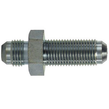 1-5/8-12 x 1-5/8-12 Male JIC Bulkhead Union Steel Hydraulic Adapters