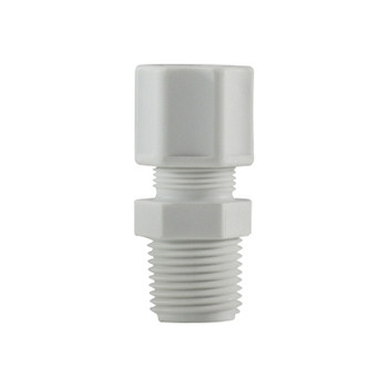 1/2 in. x 1/4 in. Compression x MIP, Polypropylene Compression Male Connector/Adapter, FDA & NSF Listed