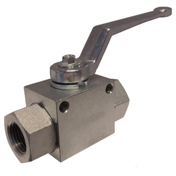 1/2 in. NPT Threaded High Pressure Full Port 2-Way Ball Valve, Working Pressure: 7250 PSI