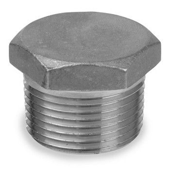 1-1/2 in. Hex Head Plug - NPT Threaded 150# Cast 304 Stainless Steel Pipe Fitting