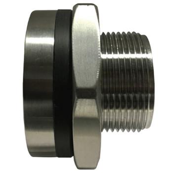 1-1/2 in. Bulkhead Coupling, 1450-2175 PSI, NPT Threaded, 316 Stainless Steel Bulkhead Fitting