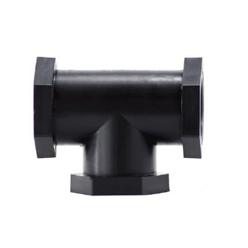 1/2 in. Tee, Polypropylene Plastic Pipe Fitting, NSF & FDA Approved