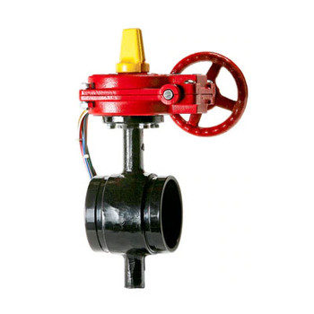4 in. Ductile Iron Butterfly Valve, Grooved BFV with Tamper Switch 175PSI UL/FM Approved