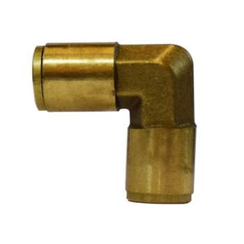 1/4 in. Tube OD, Push-In Union Elbow, Brass Push to Connect Fittings