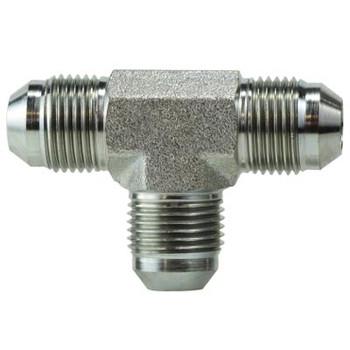 7/16-20 JIC 1 & 2 x 7/16-20 JIC 3 Steel Union Tee Hydraulic Adapter & Fitting