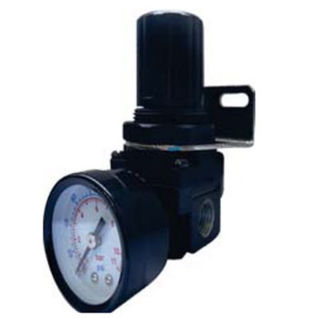 1/4 in. Port Size 1/8 in. Gauge Size Air Regulator, Pneumatic Accessory