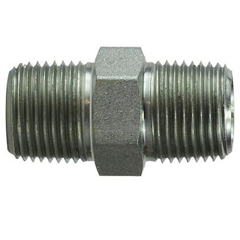 1/2 in. x 1/2 in. Hex Nipple Steel Pipe Fitting