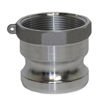 4 in. Type A Adapter Aluminum Male Adapter x Female NPT Thread, Cam & Groove/Camlock Fitting