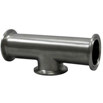 1-1/2 in. Tri-Clamp Instrument Tee, 304 Stainless Steel Tri-Clover Sanitary Fitting