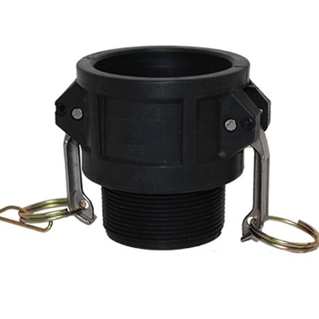 4 in. Type B Coupler Polypropylene Female Coupler x Male NPT Thread, Cam & Groove/Camlock Fitting