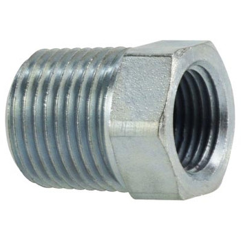 1/2 in. Male x 3/8 in. Female Steel Hex Reducer Bushing Hydraulic Adapter
