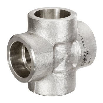 1/4 in. Socket Weld Cross 304/304L 3000LB Forged Stainless Steel Pipe Fitting