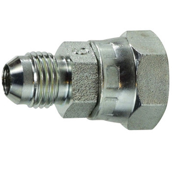 7/16-20 x 1/4-19 JIC x Female BSPP Straight Swivel Steel Hydraulic Adapter