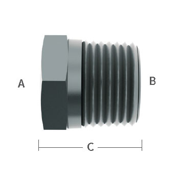 3/8 in. FNPT x 3/4 in. MNPT Reducing Bushing Stainless Steel Beverage Fitting