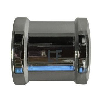 1/2 in. Coupling Chrome Plated Lead Free Brass Pipe Fitting, AB 1953