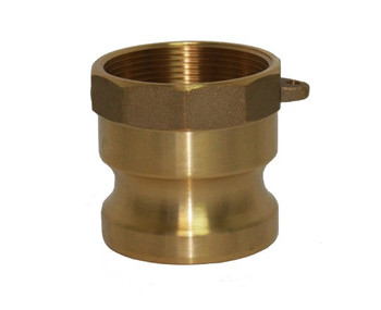 4 in. Type A Adapter Brass Cam and Groove Male Adapter x Female NPT Thread