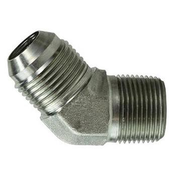 1-5/8-12 JIC x 1 in. Male Pipe Steel JIC 45 Degree Male Elbow Hydraulic Adapter & Fitting
