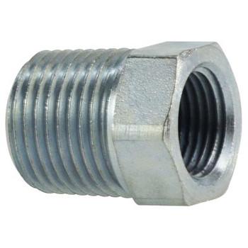 3/8 in. Male x 1/4 in. Female Steel Hex Reducer Bushing Hydraulic Adapter