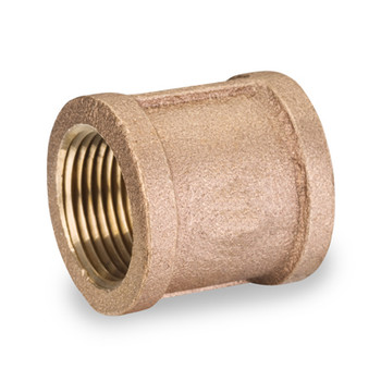 1/4 in. Threaded NPT Coupling, 125 PSI, Lead Free Brass Pipe Fitting
