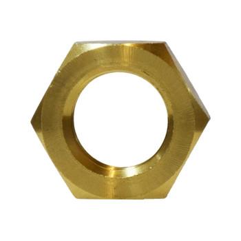 1/2 in. Lock Nut, NPSL Straight Pipe Threads, Jam Nut, Barstock Brass, Pipe Fitting