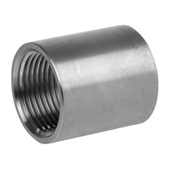 2-1/2 in. Full Coupling - NPT Threaded 150# Cast 304 Stainless Steel Pipe Fitting