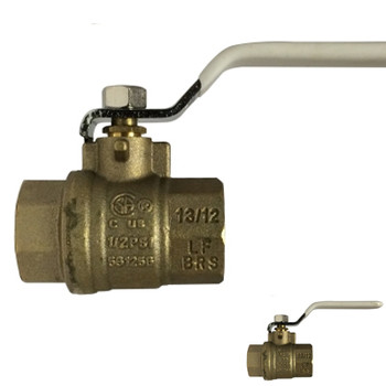 1/4 in. 600 PSI WOG, Lead Free Brass Ball Valve, Full Port, FIP x FIP, CSA, UL, FM, cUPC, NSF, ANSI 61, ANSI 372