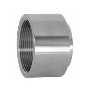3 in. Unpolished Female NPT x Weld End Adapter (22WB-UNPOL) 304 Stainless Steel Tube OD Fitting