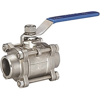 3/8 in. Socket Weld, 3PC Full Port Ball Valve, 1000 WOG, 316 Stainless Steel