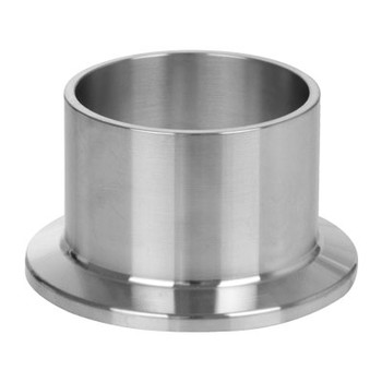 4 in. L14AM7 Long Weld Ferrule Hygienic (3A) 316L Stainless Steel Sanitary Clamp Fitting