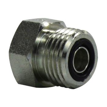 9/16-18 ORFS Plug, Steel O-Ring Face Seal Hydraulic Adapter, SAE 520109