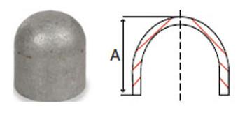 2 in. Butt Weld Cap Sch 40, 304/304L Stainless Steel Butt Weld Pipe Fittings Domestic