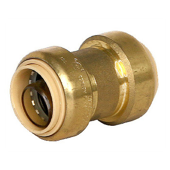3/4 in. Coupling QuickBite (TM) Push-to-Connect Fitting, Lead Free Brass (Disconnect Tool Included)