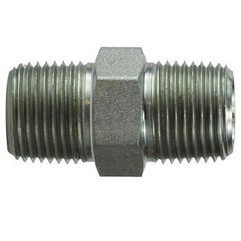 1/8 in. x 1/8 in. Hex Nipple Steel Pipe Fitting