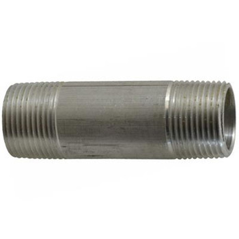 1/4 in. x 2 in. Aluminum Pipe Nipple, Pipe Thread