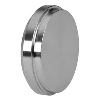 4 in. Plain Bevel Seat End Cap - 16A - 304 Stainless Steel Sanitary Fitting (3-A)