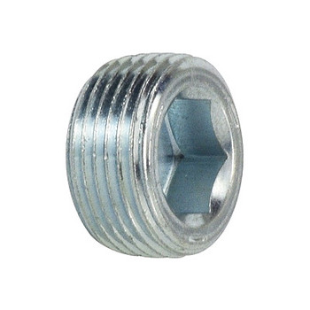 1/2 in. Flush Hollow Hex Plug Steel Pipe Fittings
