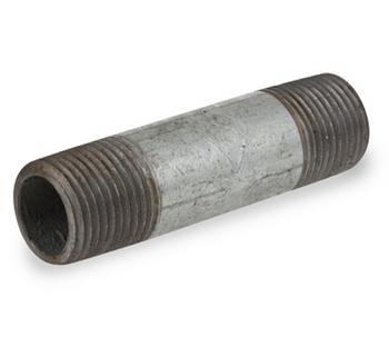 1 in. x 12 in. Galvanized Pipe Nipple Schedule 40 Welded Carbon Steel