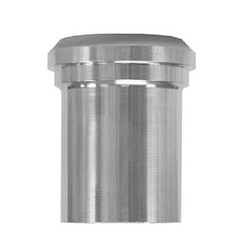 4 in. 14WL Plain Ferrule, Tank Spud (Light) (3A) 304 Stainless Steel Bevel Seat Sanitary Fitting