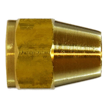 1/4 UNF x 7/16-20 Short Rod Nut, SAE 010110, SAE 45 Degree Flare Brass Fitting