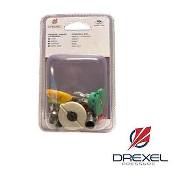 Size: 6.0 Quick Disconnect Nozzle 5 Piece Kit, Drexel Pressure