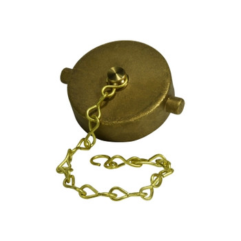 4-1/2 in. NST Hose Cap and Chain, Brass Fire Hose Fitting