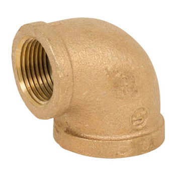 4 in. Threaded NPT 90 Degree Elbow, 125 PSI, Lead Free Brass Pipe Fitting