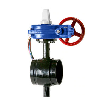 6 in. Ductile Iron Grooved Butterfly Valve BFV with Tamper Switch 300PSI UL/FM Approved - Supervised Closed
