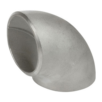 4 in. 90 Degree Elbow - Short Radius (SR) Schedule 40 304/304L Stainless Steel Butt Weld Pipe Fitting