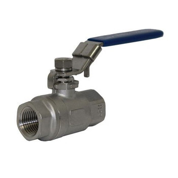 1/2 in. NPT Threaded 1000 PSI 2-Piece Full Bore 316 Stainless Steel Ball Valve