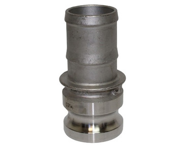 4 in. Type E Adapter 316 Stainless Steel Cam and Groove Male Adapter x Hose Shank