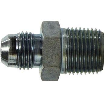 5/16-24 JIC x 1/4 in. Male Pipe Steel JIC Male Connector Hydraulic Adapter
