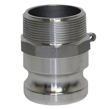 4 in. Type F Adapter Aluminum Male Adapter x Male NPT Thread, Cam & Groove/Camlock Fitting